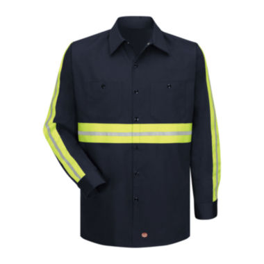 jcpenney.com | Red Kap® Long-Sleeve Visibility Shirt - Big & Tall
