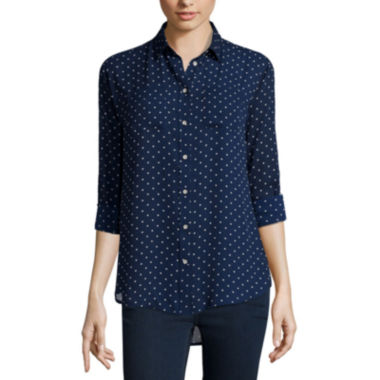 jcpenney.com | Stylus™ Long-Sleeve Oversized Shirt