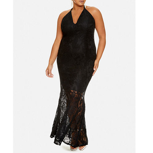 COCO HALTER LACE MAXI DRESS