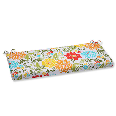"""Pillow Perfect 40"""" Outdoor Spring Bling Bench Cushion"""