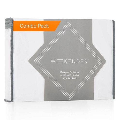 WEEKENDER Combo Pack Hypoallergenic Waterproof Mattress Protector - 2 Pillow Protectors - Premium Bed Protection Set