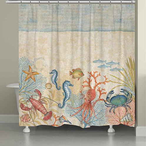 Laural Home Oceana Shower Curtain