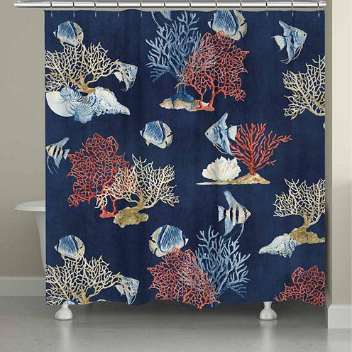 Laural Home Indigo Ocean Shower Curtain