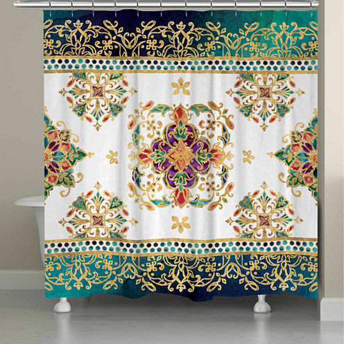 Laural Home Medallion Jewels Shower Curtain