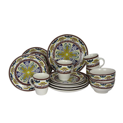 Elama Countryside Sunrise 16-pc. Stoneware Dinnerware Set  sc 1 st  JCPenney & Elama Countryside Sunrise 16-pc. Stoneware Dinnerware Set - JCPenney