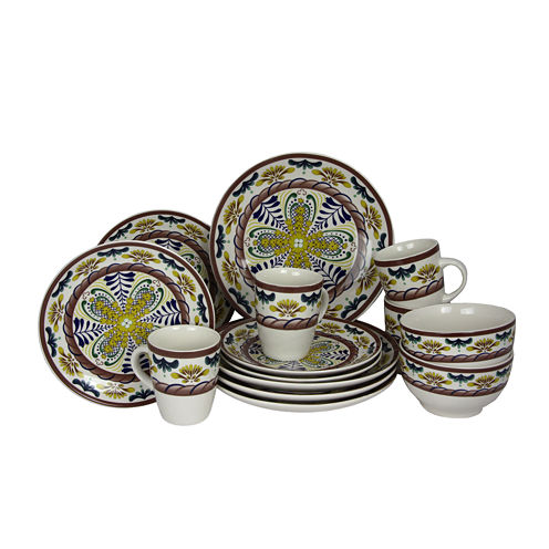 Elama Countryside Sunrise 16-pc. Stoneware Dinnerware Set