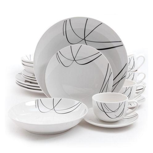 Gibson Home Holloway 20-pc. Porcelain Dinnerware Set