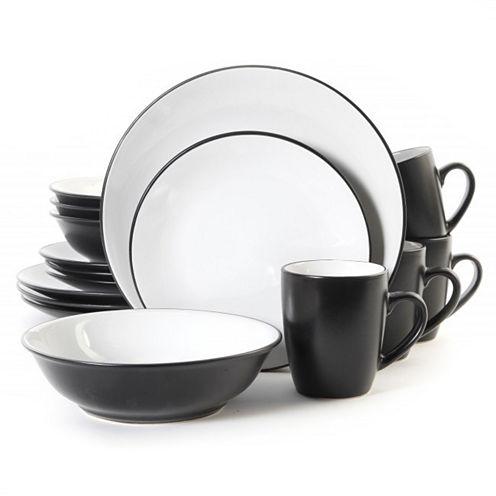 Vivendi 2-Tone 16-pc. Dinnerware Set