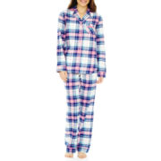 Liz Claiborne Flannel Long-Sleeve Pajama Set