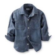Carter's® Long-Sleeve Button-Front Chambray Shirt – Boys 5-7
