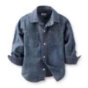 Carter's® Long-Sleeve Button-Front Chambray Shirt – Boys 5-7