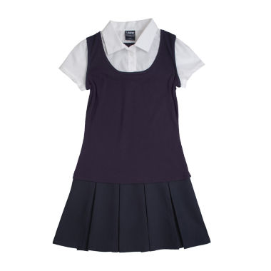 jcpenney.com | French Toast® 2-in-1 Pleated Dress - Preschool Girls 4-6x