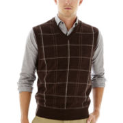 Dockers® Acrylic Windowpane Sweater Vest