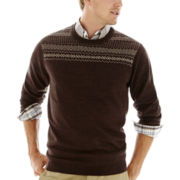 Dockers® Fair Isle Crewneck Sweater