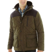 IZOD® Puffer Jacket with Oxford Yoke