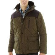 IZOD® Puffer Jacket with Oxford Yoke