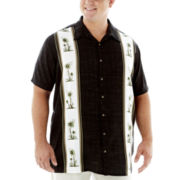 Hollis River® Short-Sleeve Paneled Rayon Shirt–Big & Tall