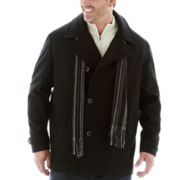 Claiborne® Wool-Blend Pea Coat–Big & Tall
