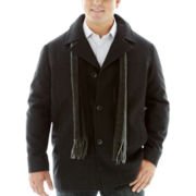 Claiborne® Wool-Look Car Coat - Big & Tall