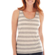 Liz Claiborne® Striped Tank Top - Petite