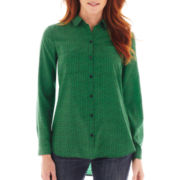 Liz Claiborne® Long-Sleeve Tunic Blouse