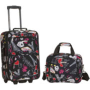 Rockland Rio 2-pc. Luggage Set-Print