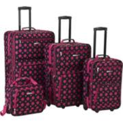 Rockland Fashion 4-pc. Luggage Set-Print