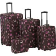 Rockland Fashion 4-pc. Luggage Set-Print