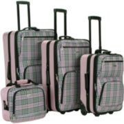 Rockland Fashion 4-pc. Luggage Set