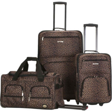 jcpenney.com | Rockland Spectra 3-pc. Luggage Set-Animal Print