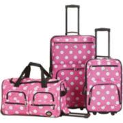 Rockland Spectra 3-pc. Luggage Set-Polka Dot