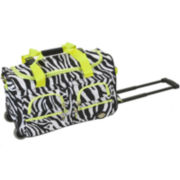 "Rockland 22"" Rolling Duffel Bag-Animal Print"