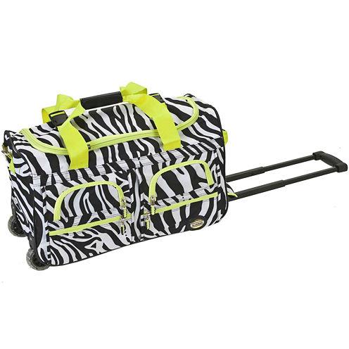 "Rockland 22"" Rolling Duffel Bag-Animal Print"