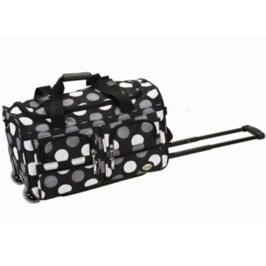 "jcpenney.com | Rockland 22"" Rolling Duffel Bag-Polka Dots"