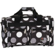 "Rockland 19"" Freestyle Polka Dot Carry-On Duffle Bag"