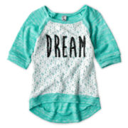 Knit Works Lace-Front Tee – Girls 6-16
