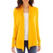 jcp™ Long-Sleeve Flyaway Cardigan Sweater - Tall
