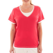 Made For Life™ Short-Sleeve Layered Tee - Tall