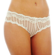 THE BODY Elle Macpherson Intimates Lace and Mesh Bikini Panties