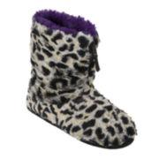 Dearfoams® Womens Zippered Boot Slippers