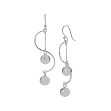 jcpenney.com | Silver-Plated Brass Ball Drop Swirl Earrings