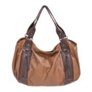 Bueno 2Tone Washed Double Shoulder Bag