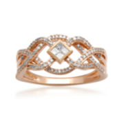 CLOSEOUT! 1/3 CT. T.W. Diamond Loop Ring