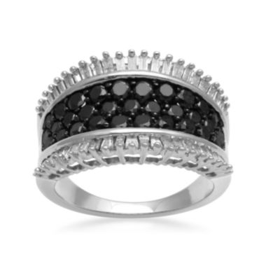 jcpenney.com | LIMITED QUANTITIES 2 CT. T.W. White and Color-Enhanced Black Diamond Band Ring