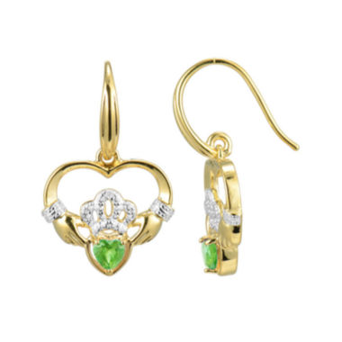 jcpenney.com | Heart-Shaped Genuine Peridot and Diamond-Accent Claddagh Earrings