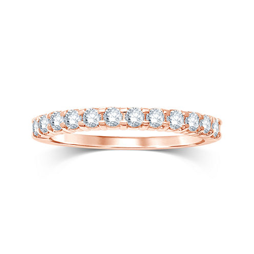 1/2 CT. T.W. Diamond 14K Rose Gold Wedding Band