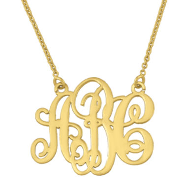 jcpenney.com | Personalized Swirl 20mm Monogram Necklace