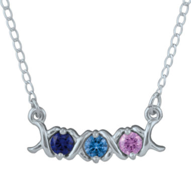 jcpenney.com | Personalized Xs and Os Birthstone Necklace