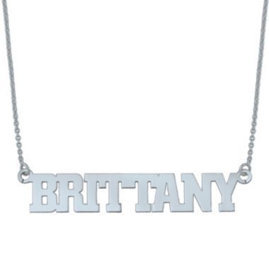 jcpenney.com | Personalized Block Name Necklace