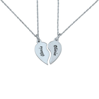 jcpenney.com | Personalized Best Friends Half-Heart Necklaces